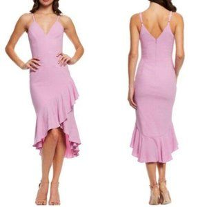 Dress The Population Violet Ruffle Dress L FLAWS